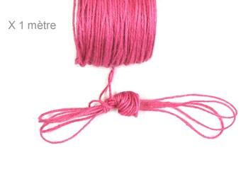 FUCHSIA, 2 mm hemp cord