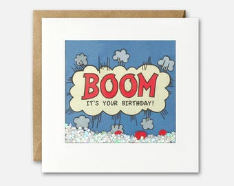 Boom Kapow Shakies Card by James Ellis