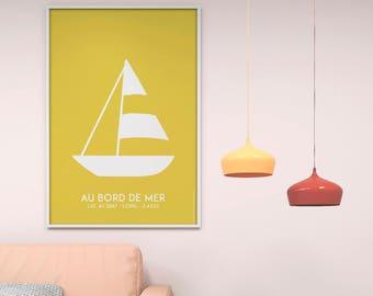 Yellow boat Poster Print