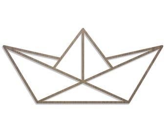 BOAT ORIGAMI laser cut wood size C