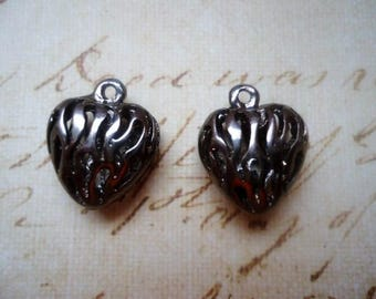 """SET of 2 """"Hearts"""" charms"""