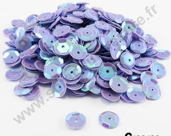 Sequin curved sequin - LILAC Pearl - 6mm - x 400pcs