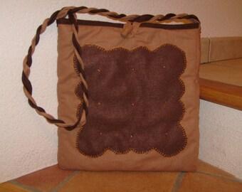 Cupcake fabric shoulder bag
