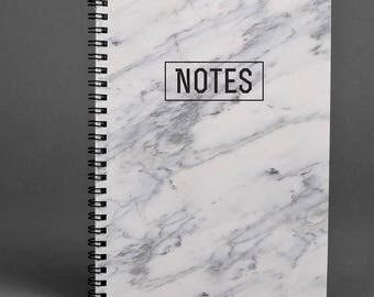 Marble Writing journal Notebook White Marble Gift Notebook Spiral Notebook Handmade Notebook A5 Notebook Sketchbook Stoned Notebook A4 Diary