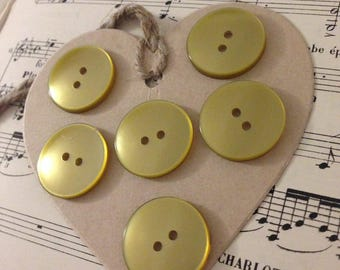 Set of 6 large Bronze buttons
