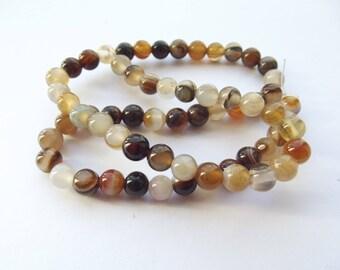62 natural irregular agate beads 5-6 mm