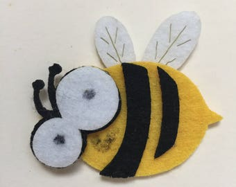 Felt bee embellishment