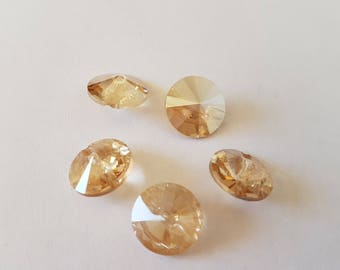 Buttons 12MM Crystal Gold