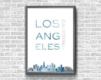 Los Angeles Print | Los Angeles Wall Art | Los Angeles Skyline | Los Angeles Poster | Los Angeles Digital Print | Los Angeles Home Decor