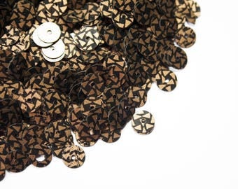 Sequin sewing copper Black 6 mm 40g bag
