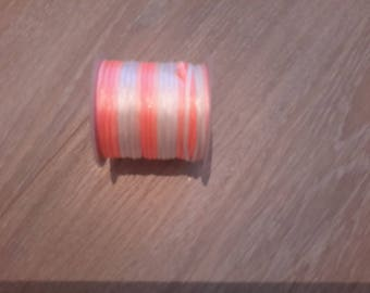 roll of 5 meters of two-tone round cord