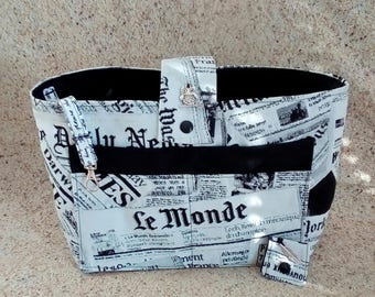 Organizer bag newspapers
