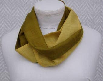 """Green and yellow wool scarf """"gold and lime"""" hand painted Bunting"""