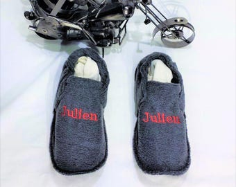 Slippers washable fleece Julien T 42/44 made 100% in France