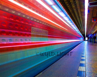 The Colorful Sights of the Metro Underground in the Czech Republic