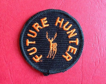 Vintage FUTURE HUNTER Patch 60s 70s Sew On