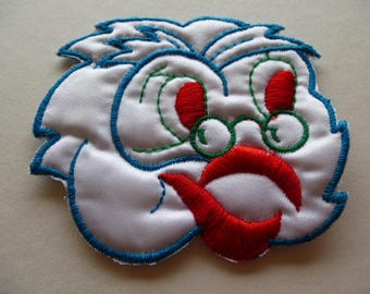 applique OWL head OWL badge patch to sew creative sewing and embellishments