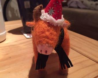 Christmas Highland Cow