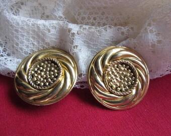 gold tone earrings * 4.2 cm * 1980s