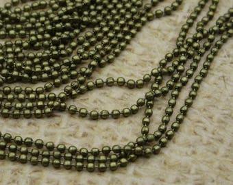 2 m chain ball mini bronze metal round beads
