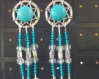 "Long earrings dangle 2 ""dream - turquoise"""