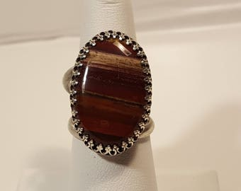 Agate Stone Ring double band