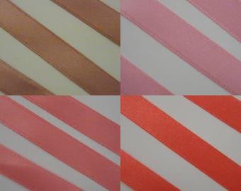 1 meter Ribbon pink satin scrapbooking sewing decoration