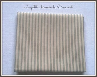 coupon 50x55cm Tilda Kitchen stripe blue fabric