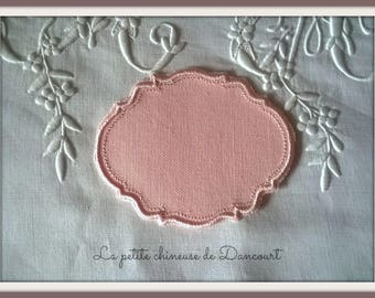 Light pink powdered Gustavian Medallion