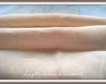 Powder Pink linen Coquecigrues by the yard