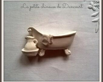 Plaster decorative retro bath n ° 2