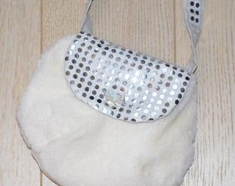 fur bag glitter girl