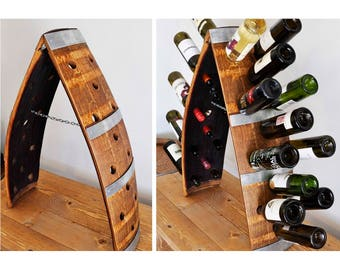 Barrel Stave Wine Rack, 24-bottle