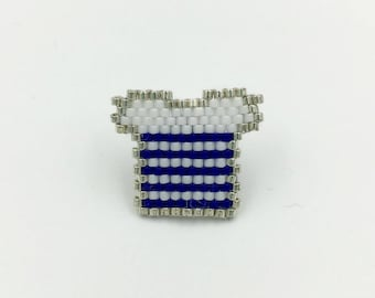 Badges sailor blue and white Miyuki beads