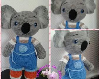 Kalipso cute blue koala in overalls. Croc's betty tutorial