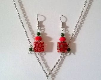 set summer necklace and earrings