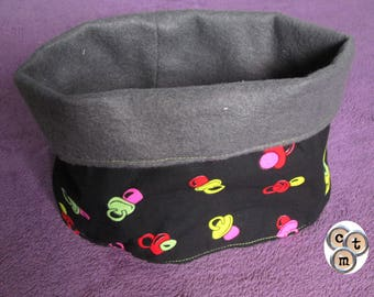 Destash fabric and fleece Snood for children