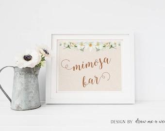 Mimosa Sign , Rustic Bridal Shower , Mimosa Bar , Rustic Bridal Shower Sign , Mimosa Bar Sign , Mimosa Bar Printable , Instant Download