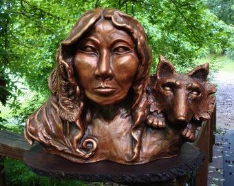 Native Woman Sculpture