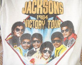 Michael Jackson Jackson 5 Five Concert t-shirt 1984 Victory Tour