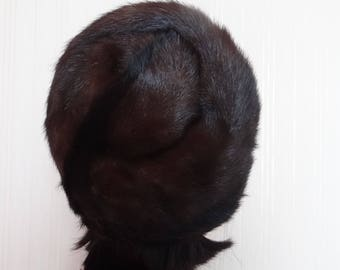 Женские головные уборы модные RETRO Меховые шляпы женские короткое beanie Mink fur Hat handsewn Зимняя шляпа Chunky Beanie Hat Женская шляпа