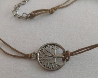 tree of life choker necklace natural fibers