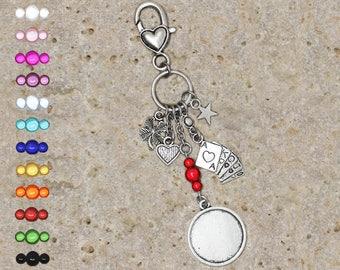 Medium round cabochon 20 mm for bag charm or key cards