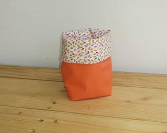 Basket 8 * 8 reversible canvas/waxed cotton #2 Collection Confetti