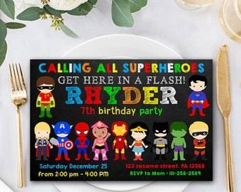 Superhero Invitation, Superhero Birthday, Superhero Invitation Birthday, Superhero Invitation, Superhero Birthday Party, Superhero Card