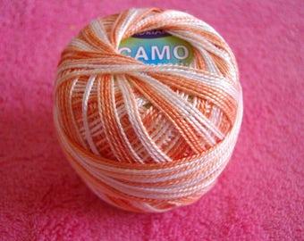 Pearl Cotton embroidery, no. 8 orange multicolor