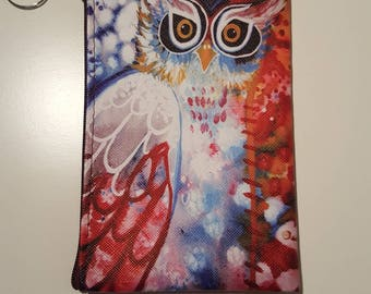 Clutch purse large owls