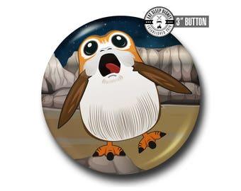 "Porg - Star Wars The Last Jedi - 3"" Button"