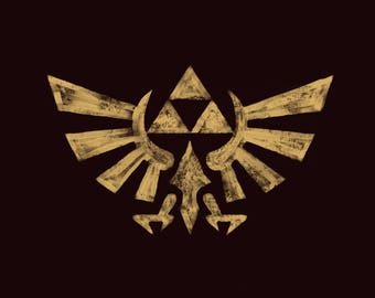 Zelda Triforce Print