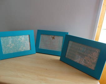 Vintage - blue and white photo frame